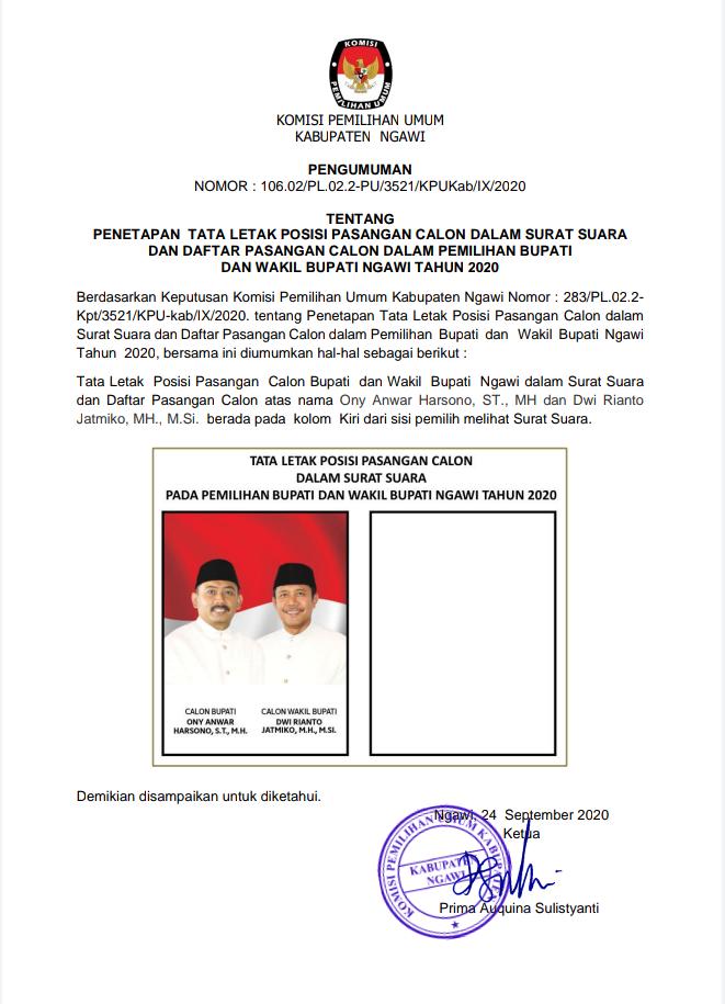 Iklan KPU Ngawi