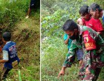 Seorang warga Nawangan, Pacitan ditemukan meninggal dunia di dasar jurang pada Minggu (4/4) siang. (Foto:istimewa).