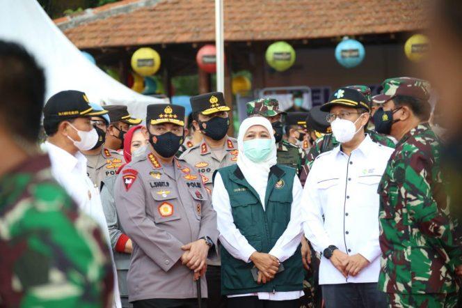 Panglima TNI, Kapolri dan Menkes Pantau Vaksinasi di Madiun