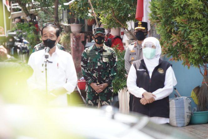 Forkompimda Jatim Dampingi Presiden Jokowi Cek Pelaksanaan Vaksinasi di Madiun